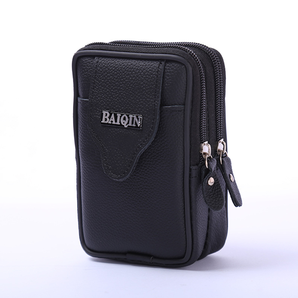 Fine Jewelry Bisi Goro Multi-function Phone Coin Men Waist Bag Vintage On The Belt Outdoor Small Wallet 2019 Wear-resistant Pu Heuptas Heren