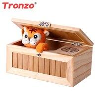תיבת עץ חסר תועלת Tronzo צעצועים אלקטרוניים צעצועים ומתנות לילדים Kawaii טייגר חידוש ואיסור פרסום תיבת צעצוע אנטי סטרס סיטונאי