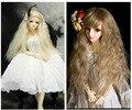 25 см * 1 м Красочный Кукла Парики DIY Кукла Вьющиеся Волосы Волнистые Парики коричневый Хаки Цвет Волос Для 1/3 1/4 1/6 BJD SD кукла