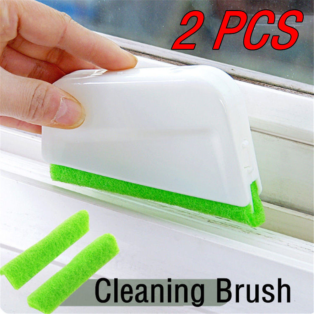2Pcs Window Frame Door Groove Cleaning Brush Kitchen Decontamination Brush