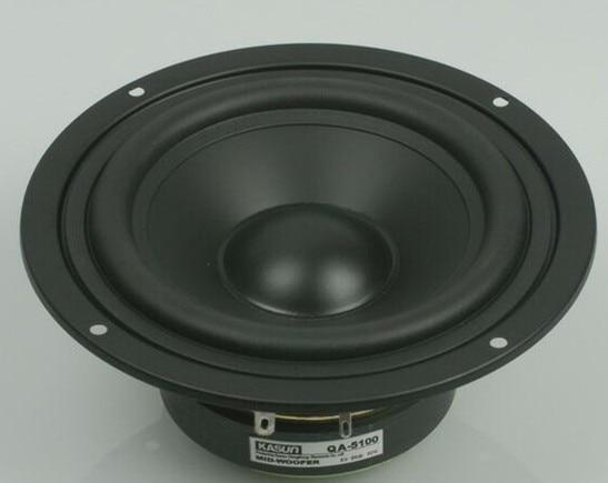 1 pcs HI-FI altifalante midrange KASUN QA-5100 5 polegada mid-bass mid bass woofer falante 90 W 8 ohm para o amplificador WOOFER speaker