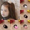 Super Lindo 2.5 CM Tamaño Bebé Faux Fur Bola Sostenedor del Ponytail Lazos Del Pelo de Las Niñas Niños