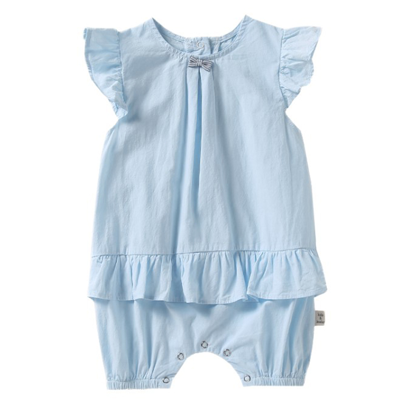 Baby Girl Clothes 2018 Summer Baby Rompers Roupas Bebes Ruffles Sleeves Girls Dress Newborn Baby Clothes Cotton Infant Jumpsuits