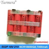 5s2p battery 18650 pack ncr18650ga 3500mah 7000mah 18v 21v soldering battery for screwdriver tools battery customized battery