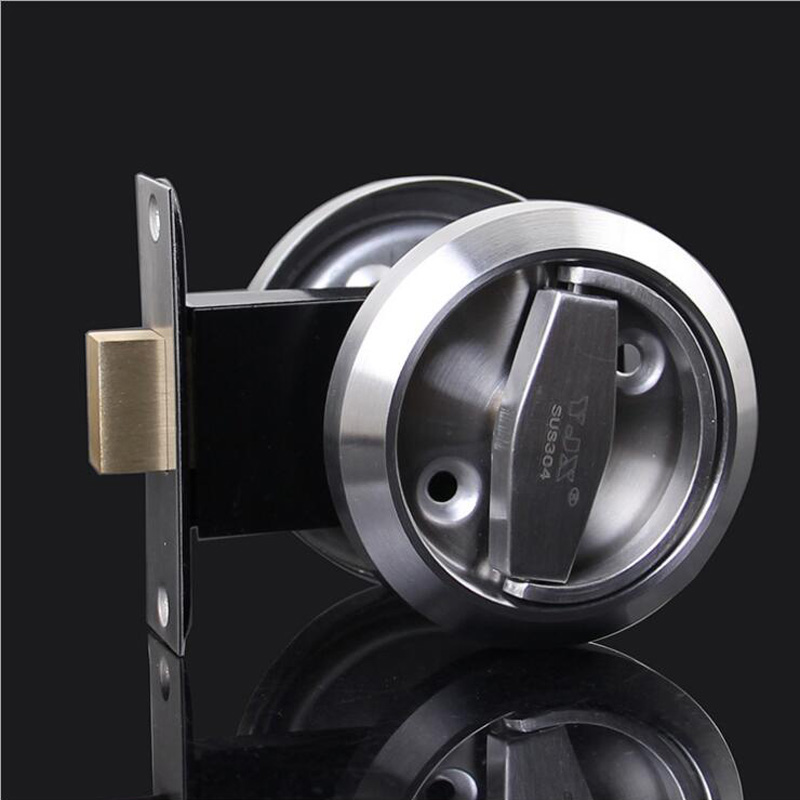 цена на Meticulous Sliding Door Lock Interior Bathroom and Lavatory Lock Hook Invisible Move Door Lockset DL886