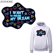 ZOTOONE Iron on Letter Patches Applications for Clothing DIY T-shirt Applique Heat Transfer Vinyl Stickers Stripes Clothes