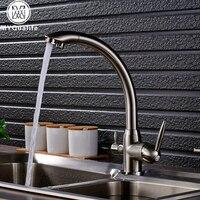Brand New Kitchen Sink Faucet Tap Pure Water Filter Mixer Crane Dual Handles Purification Kitchen Hot