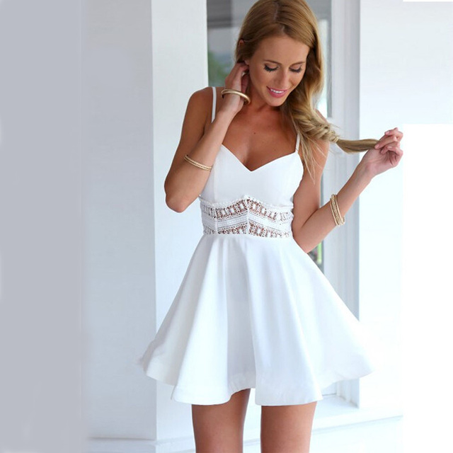 Witte jurk kant