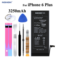 Original NOHON Battery For Apple IPhone 6 Plus 6Plus 6P 3250mAh Replacement High Capacity Phone Bateria
