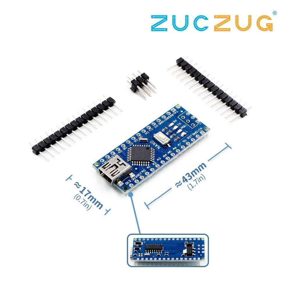 Nano Mini USB avec le chargeur de démarrage compatible Nano 3.0 contrôleur CH340 USB pilote 16Mhz Nano v3.0 adaptateur/168 P pour arduino