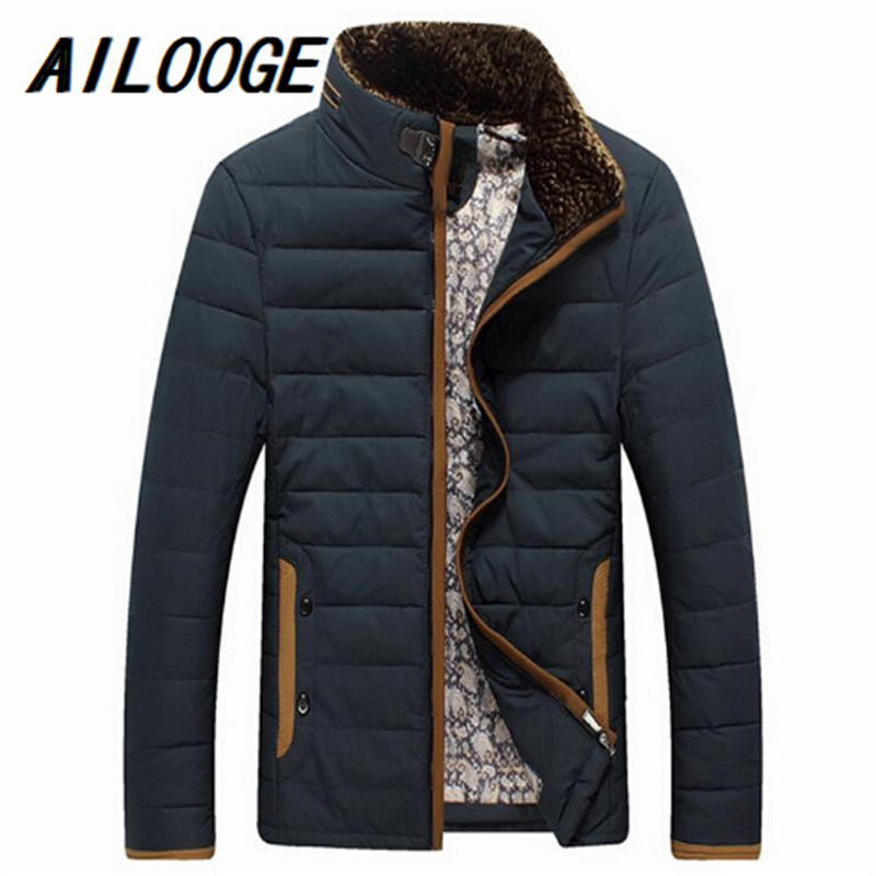 2016 4 Colors Winter Warm Mens Down Jackets Thicken Outerwear wadded coat Man Clothes Parka Overcoat M-3XL Mens Clothes