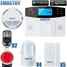 Shiping libre sistema de Alarma GSM seguridad Para El Hogar sistema de alarma Inglés/Ruso/Francés/Español voz