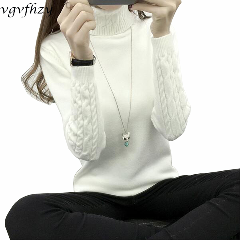 Girls Turtleneck Winter Sweater Girls 2018 Lengthy Sleeve Knitted Girls Sweaters And Pullovers Feminine Jumper Tricot Tops Ly571