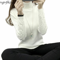 Women Turtleneck Winter Sweater Women 2017 Long Sleeve Knitted Women Sweaters And Pullovers Female Jumper Tricot