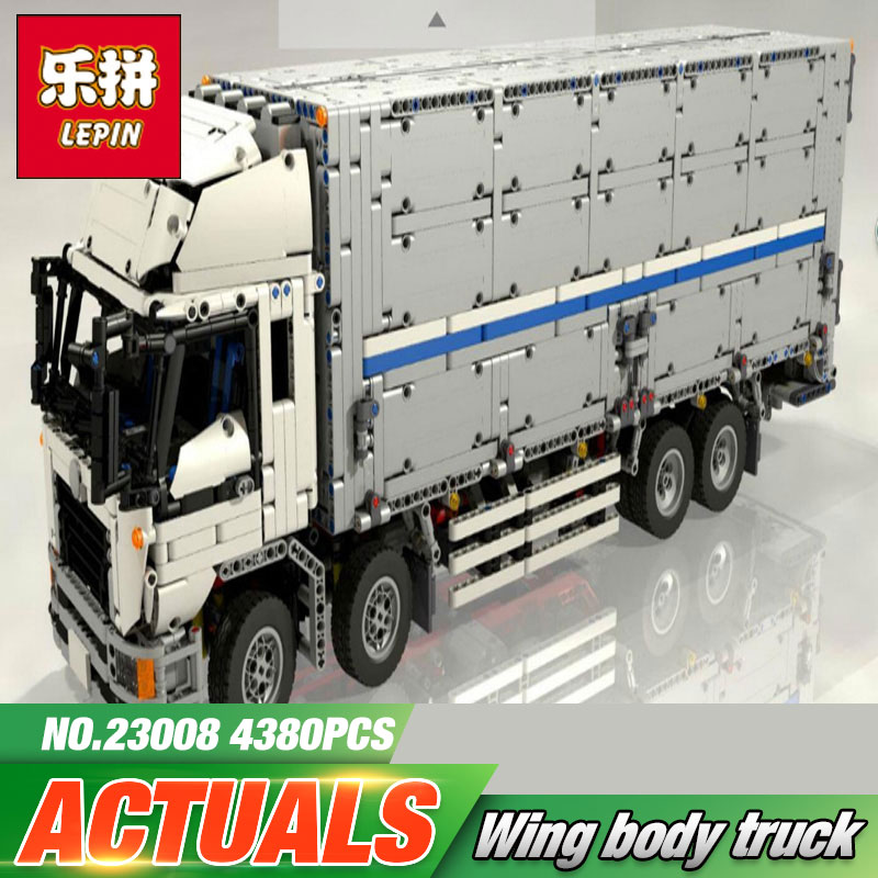 Lepin 23008 4380Pcs New Technical Series The MOC Wing Body Truck Set 1389 Building Block Bricks Children Educational Toys Gift 23008 4380pcs technical series the moc wing body truck set compatible with 1389 educational building blocks children toys