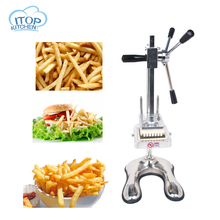 ITOP Vertical Vegetable Cutter Manual Potato Slicer Chips Knife MH003 8mm 10mm 12mm blade