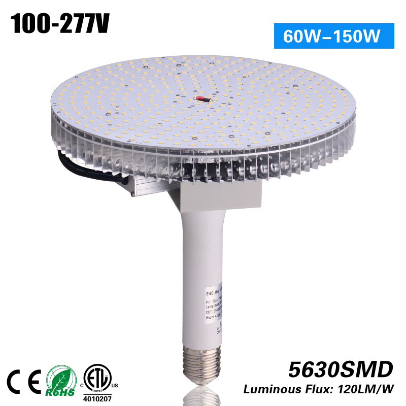 2017 hot selling High Quality 5 years warranty 14400 Lumens E39 mogul base 120W led high bay equivalent for metal halide 400w  цены