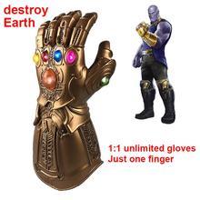 7df13cb9d4 Strona główna LED dekoracji Avengers nieskończoność wojny rękawice Glow  Superhero Avengers Thanos lateksowa rękawiczka Halloween Party