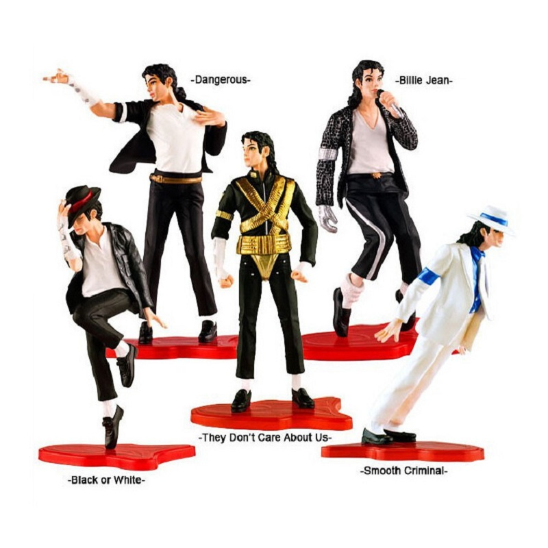 5PC/Lot Classic Michael Jackson Pvc Action Figure Toy Classic Pose Michael Jackson Dispaly Jouet Children Birthday Juguetes Gift фигурка planet of the apes action figure classic gorilla soldier 2 pack 18 см