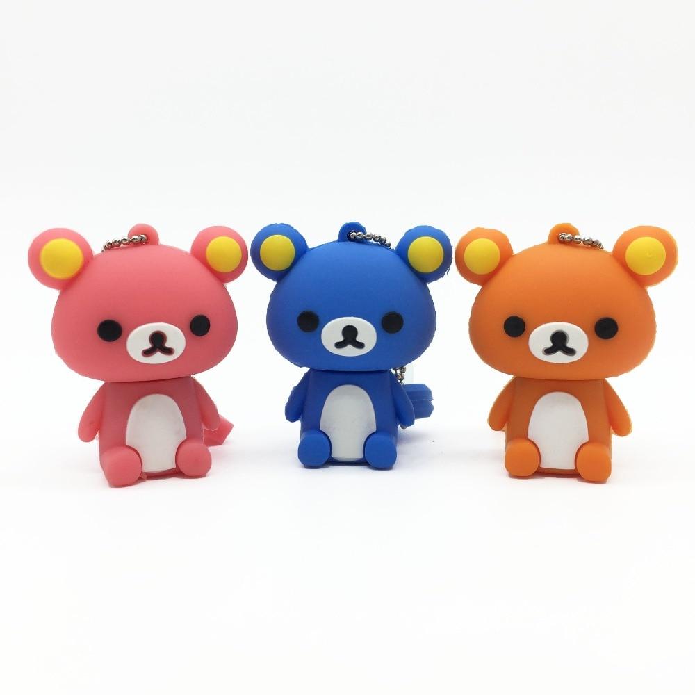 2019 New Usb Flash Drive Cute Cartoon Bear Pen Drive 4gb 8gb 16gb 32gb 64gb 128gb Pendrive High Quality Usb Stick Free Shipping (7)