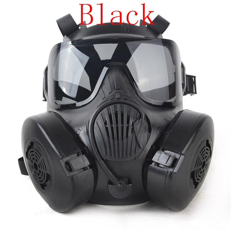 M50 Airsoft Double filtre masque à gaz CS Paintball militaire tactique armée transpiration masque de protection du visage avec ventilateur