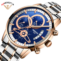 Relogio Masculino NIBOSI Luxury Men's Wristwatches Stainless Steel Sport Clock Man Gold Male Watches Top Brand Business Watch