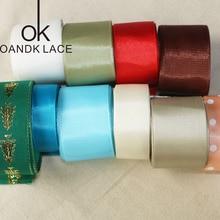 MIX 1-4CM 10 YardsRan  Silk Satin Organza Polyester Ribbon For DIY Wedding Party Decoration Sewing Webbing Crafts Gift Packing недорого