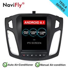 NaviFly Tesla стиль Android 8,1 ips экран автомобиля радио gps навигация для 2012-2017 Ford FOCUS с wifi BT Зеркало Ссылка RDS FM