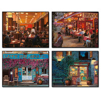 Needlework 5d Diamond Painting Coffe Landscape Lavender Embroidery Mosaic Pictures Patterns Tree Beads Picture Rhinestone