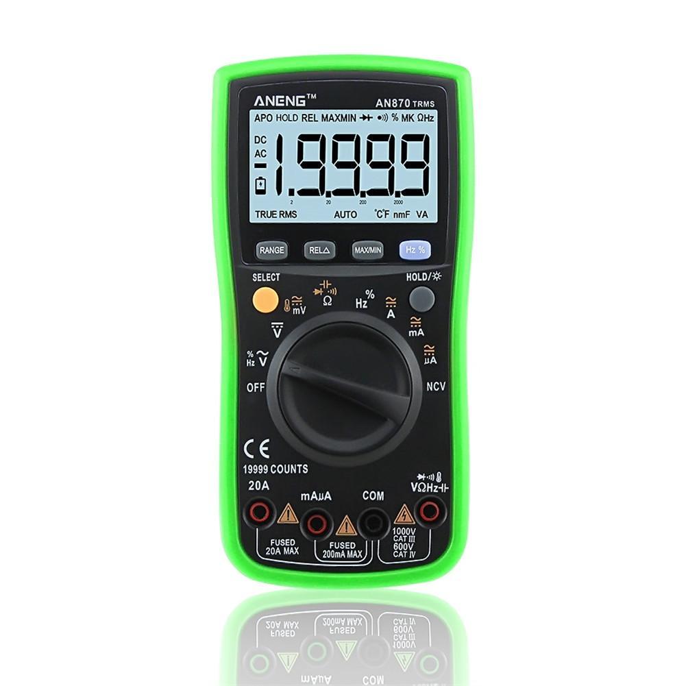 Auto Range Digital Precision Multimeter 19999 COUNTS True-RMS NCV Ohmmeter AC/DC Voltage Current Ammeter Transistor Tester цена