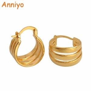 Anniyo трендовые серьги-гвоздики для женщин/девушек золотого цвета очаровательные ювелирные изделия подарки #005616
