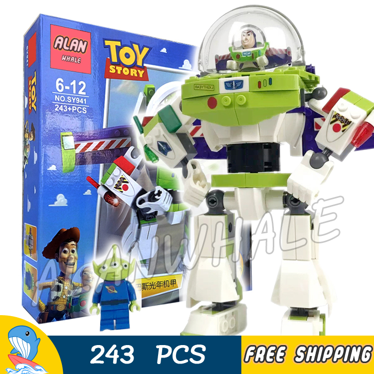 243pcs Super Heroes Story 3 Construct a Buzz Lightyear Mech Robots SY941 Model Building Blocks Toy Bricks Compatible With lego неожиданный афон