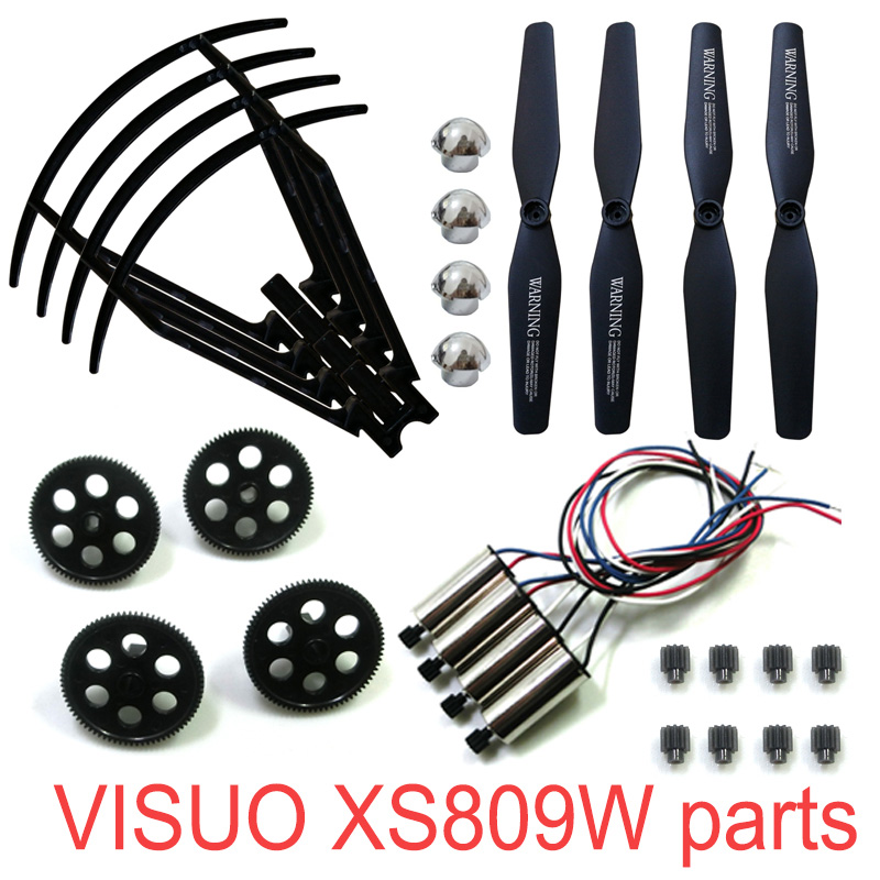 Image 5 - RC Drone Original Parts VISUO XS809W XS809HW XS809 RC Quadcopter Spare Parts Spindle Geared Bearing Motor Geared Engine-in Parts & Accessories from Toys & Hobbies