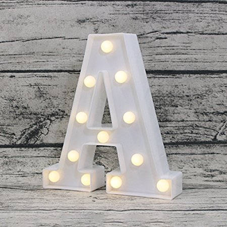 NEW LED Luminous Letter Night Light Creative 26 English Alphabet bedroom children room Party Club Bar clothing stores light desk in LED Night Lights from Lights Lighting