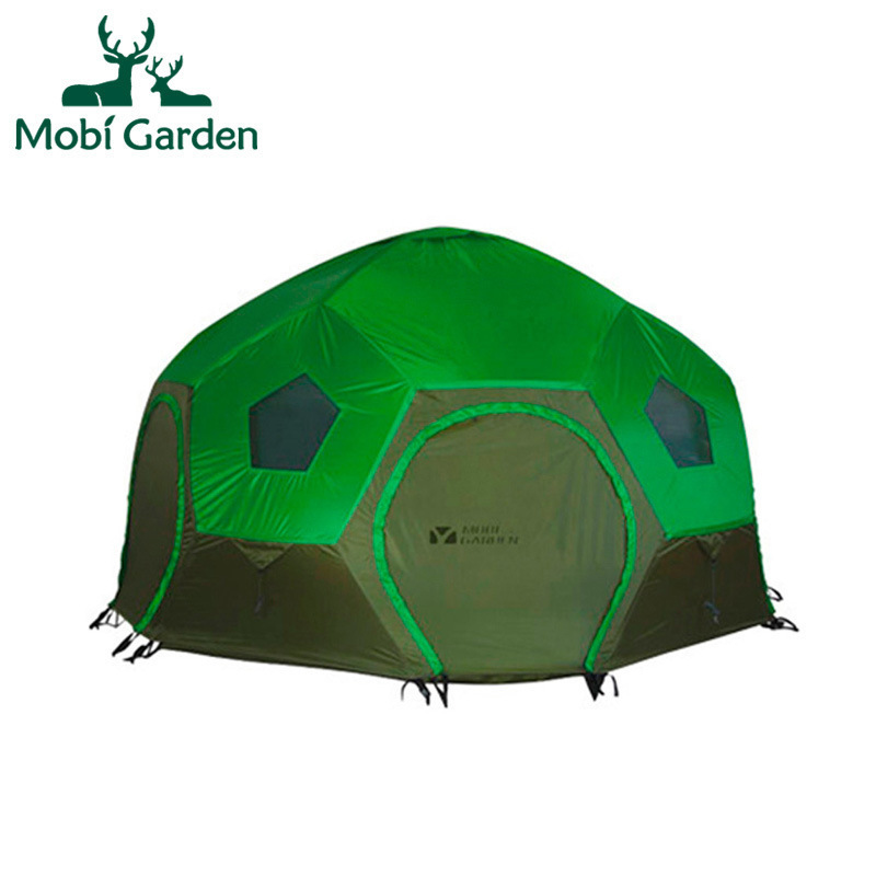 Mobi outdoor camping equipment hiking waterproof tents high quality wigwam double layer big camping tent цена