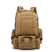 50-60L Outdoor Climbing Bag Molle Tactical Military Backpack Waterproof Oxford Nylon Camping Trekking Set With Waist