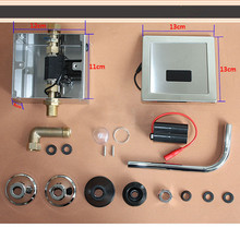 Нержавеющая сталь автоматический туалет смывной клапан сенсор санитарные изделия работает с 4 шт. AA батареи