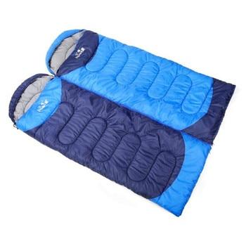 Outdoor adult autumn and winter sleeping bag camping sleeping bag lengthened warm cotton indoor envelope sleeping bag 1.6kg