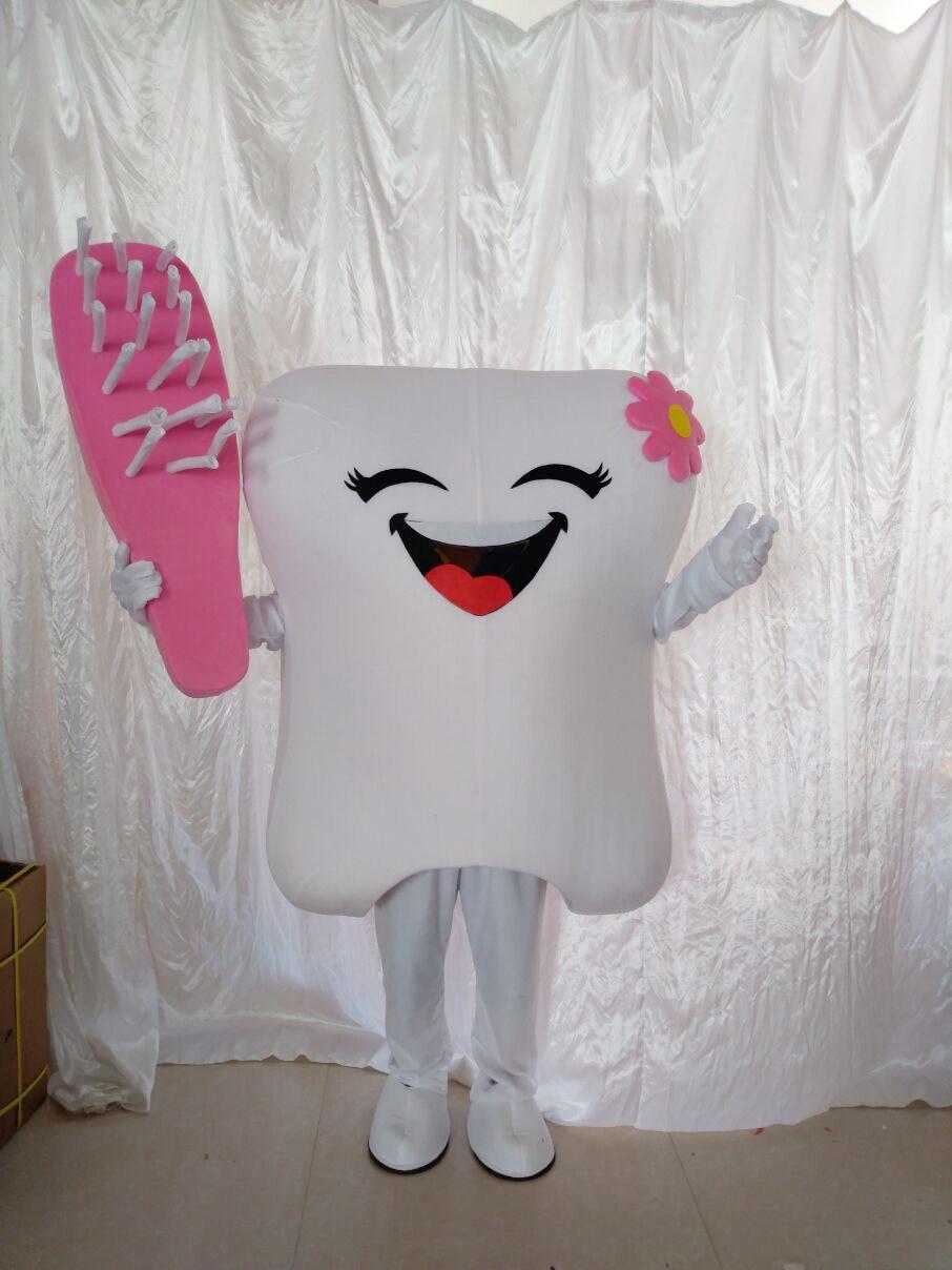 Dent mascotte Costume docteur des dents fête soins dentaires personnage mascotte robe & parc d'attractions tenue santé éducation - 2