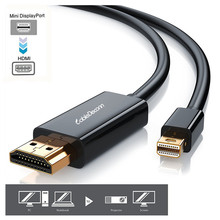 Mini DisplayPort to HDMI Cable 6ft for Macbook Pro for Apple Mac Macbook & Air for Projector HDTV Mini DP Male to HDMI Male