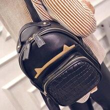 Корейский Моды Сумка с тиснением крокодил рюкзак зима новый цвет досуг женская сумка