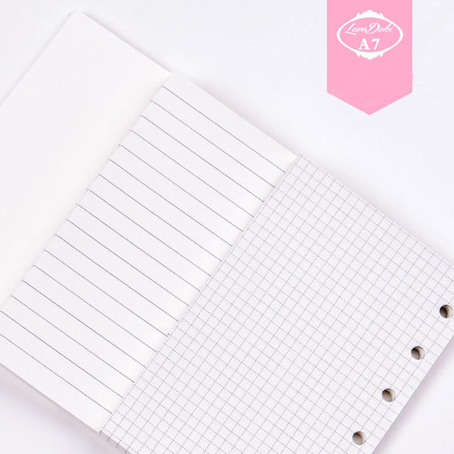 Dokibook A7 Notebook Filler Pages Blank & Line & lattice 6 loose ...