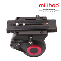 miliboo 65mm bowl size Professional Fluid Head for monopod tripod quick release plates MYT801 360 Dgrees Aluminum video DSLR