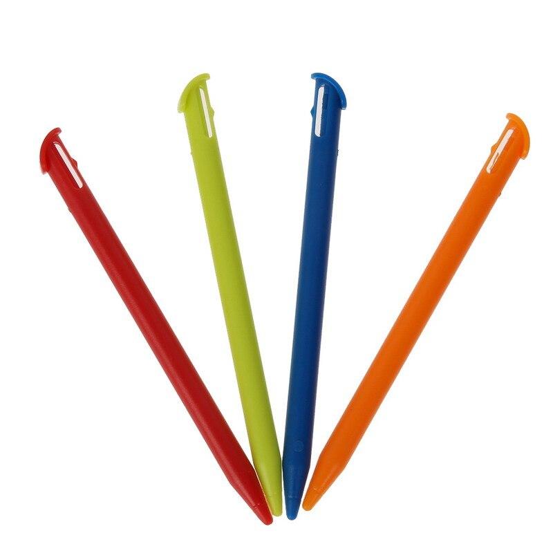4 шт./лот многоцветная пластиковая ручка для сенсорного экрана стилус карандаш игровая консоль сенсорная ручка для Nintendo 3DS XL LL новый контрол...