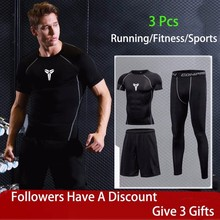 New Gym Tights Sports Mens Compression Sportswear Suits Training Clothes Suit Workout Jogging Clothing Tracksuit Dry Fit