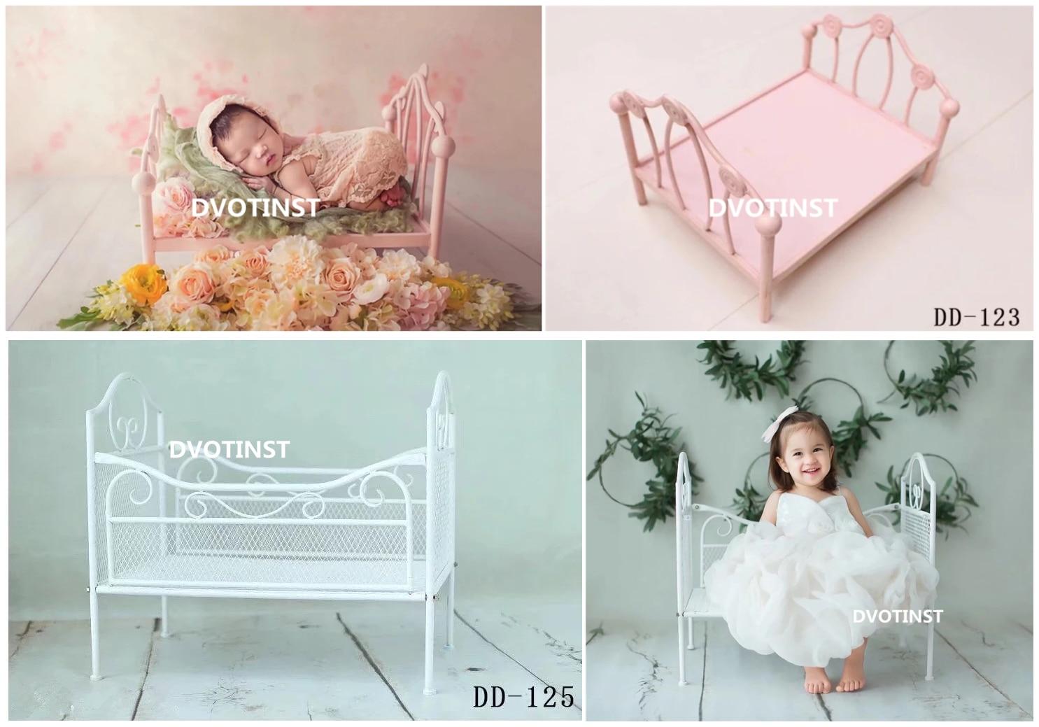 Dvotinst Neugeborenen Fotografie Requisiten Eisen Posiert Prinzessin Mini Bett Poser für Baby Foto Fotografia Schießt Zubehör Studio Requisiten