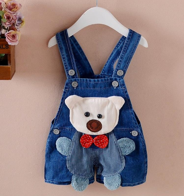 Baby Pants Denim Animal infant overall 2018 Summer children bib pants kids boys girls jeans for toddler cartoon 1 3 years