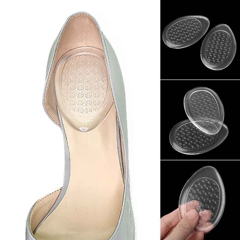 1 pairs Women Heel Pads but podeszwowy podkładka silikonowa przezroczysta niewidoczna poduszka podtrzymująca wkładka żelowa z wysokim obcasem