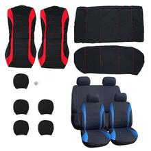 VODOOL 9Pcs/Set Universal Car Seat Cover Polyester Car Front Back Seat Cushion Covers Protector Car Styling Interior Accessorie