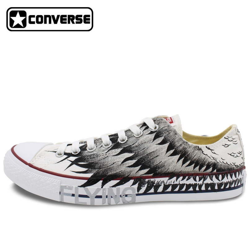 Wings Original Design Converse All Star Hand Painted Shoes Man Woman font b Sneakers b font